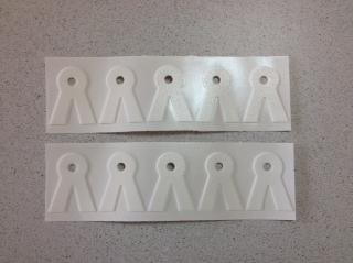 V-vormige stickers, set 100 stuks