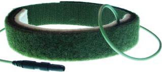 Reusable Grounding electrode Velcro strap