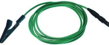 Reusable Grounding Alligator Clip» 1m (40inch) silicone wire, DIN42802 connector, 1 piece per package