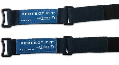 Perfect Fit Adult Effort Belt Sensors, (1-Chest, 1-Abdomen)
