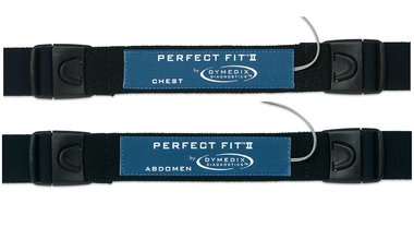 Perfect Fit II Adult Effort Belt Kit: 2 Sensors, 2-ea 45