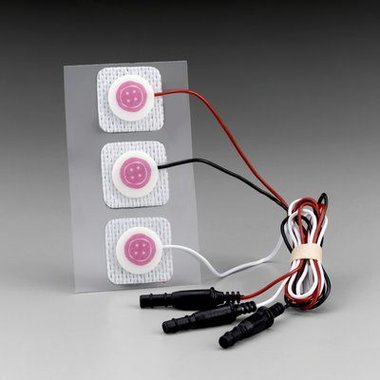 3M Red Dot Baby elektrode met kabels - röntgendoorlaatbaar, 2282E
