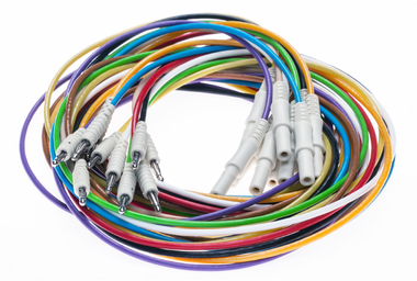 Set EEG cables, DIN42802 to 2mm pin (spring loaded)
