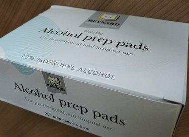 Prep Pad, Alcohol, 200/pkg