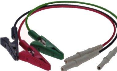 Set van 3 korte krokodil-klem kabels