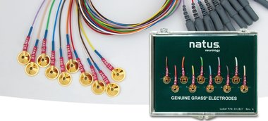 Grass Gold Cup Electroden, non-tangle wire