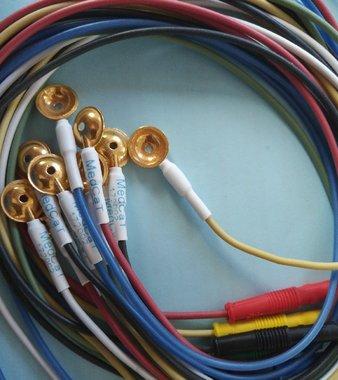 Goud Cup Electroden, korte kabel