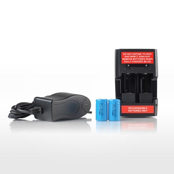 MediByte / Jr Rechargeable Battery Kit: Two Li-Ion 14250 batteries, One Continental European charger